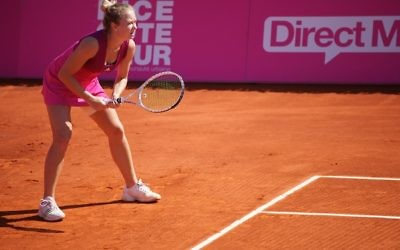 Julia Glushko failed to reach the first round of the WTA event in Stanford