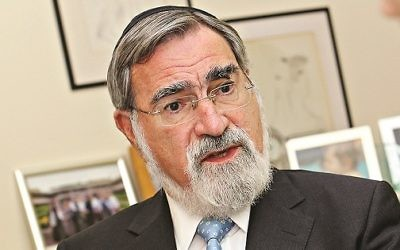 Former chief rabbi Lord Sacks