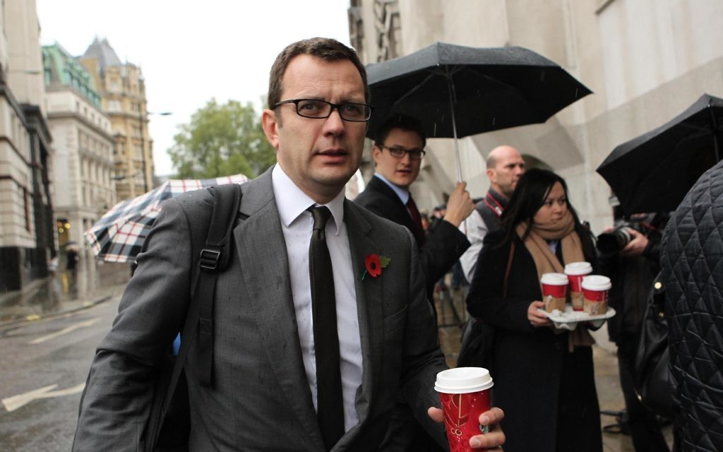Former News of he World Editor Andy Coulson arrives at the Old Bailey, as his phone hacking trial continues.