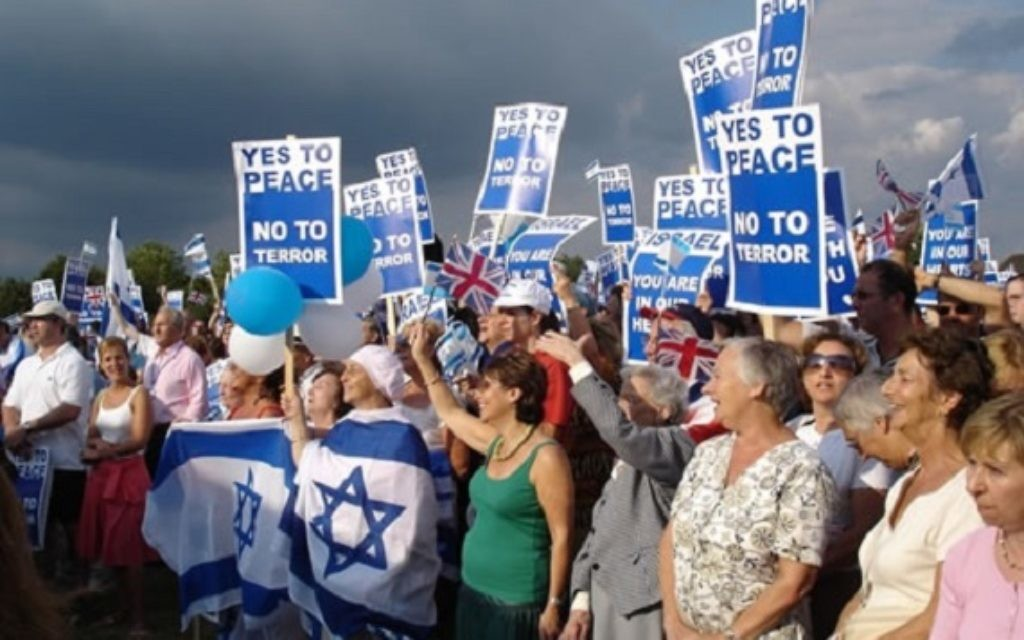 A Pro-Israel rally in London .