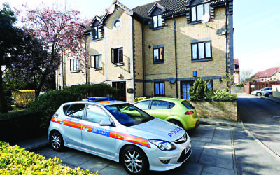 Scene of the murder in Falcon Way, Colindale. Photo: Peter Beal/Hendon & Finchley Times