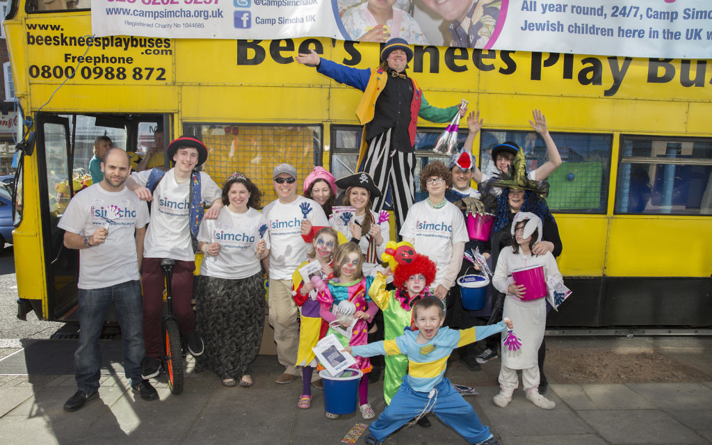 Camp Simcha's Purim rally in Golders Green