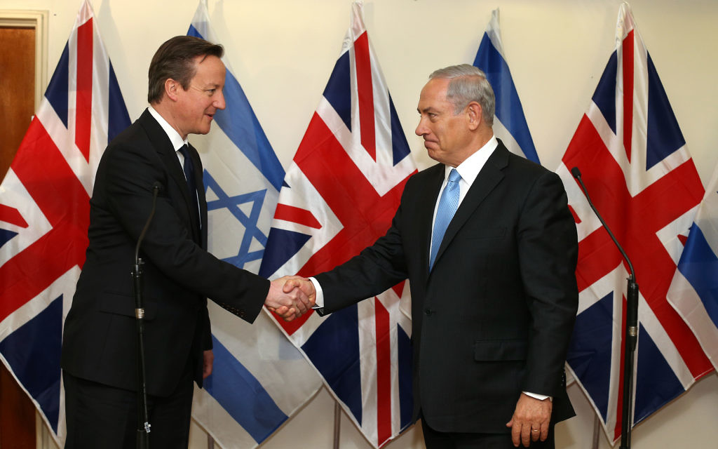 Netanyahu with Cameron at his Jerusalem office in March.