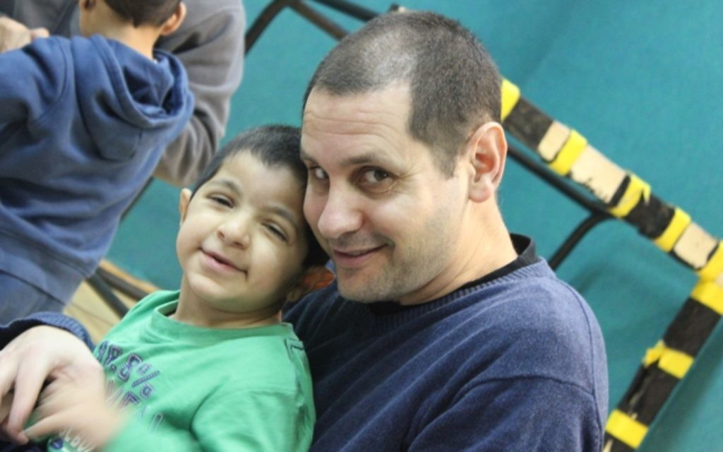 Udi with his son Eytan