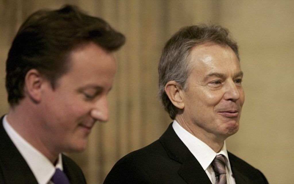 Tony Blair (R) with David Cameron, pictured in 2006.
