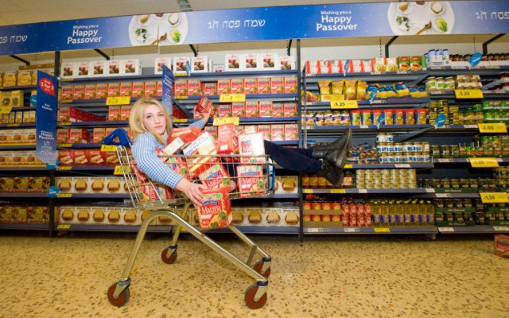Off her trolley: Fiona Leckerman tries to find a matzah metziah
