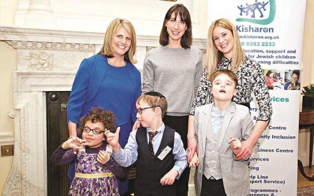 Samantha Cameron, Emma Castleton & Kisharon pupils (Photo: Zoe Norfolk)