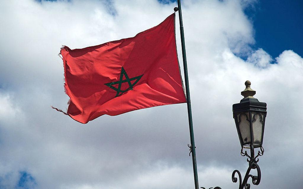 Moroccan flag in Marrakesh
