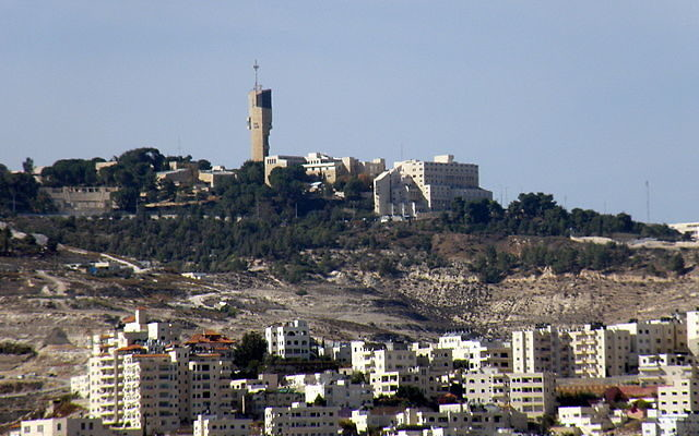 The Israeli settlement of Ma'ale Adumim, 4.3 miles from Jerusalem.