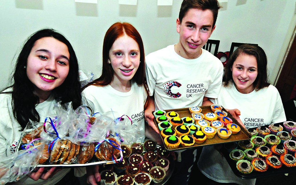 Four teenagers sold cakes to raise £5000 for Cancer Research