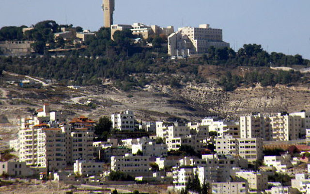 A settlement in the West Bank