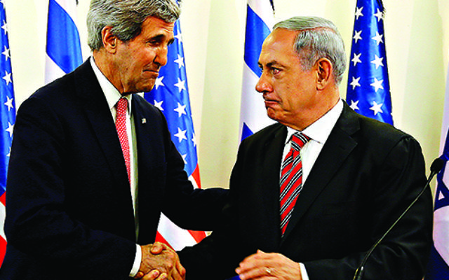 John Kerry with Benjamin netanyahu