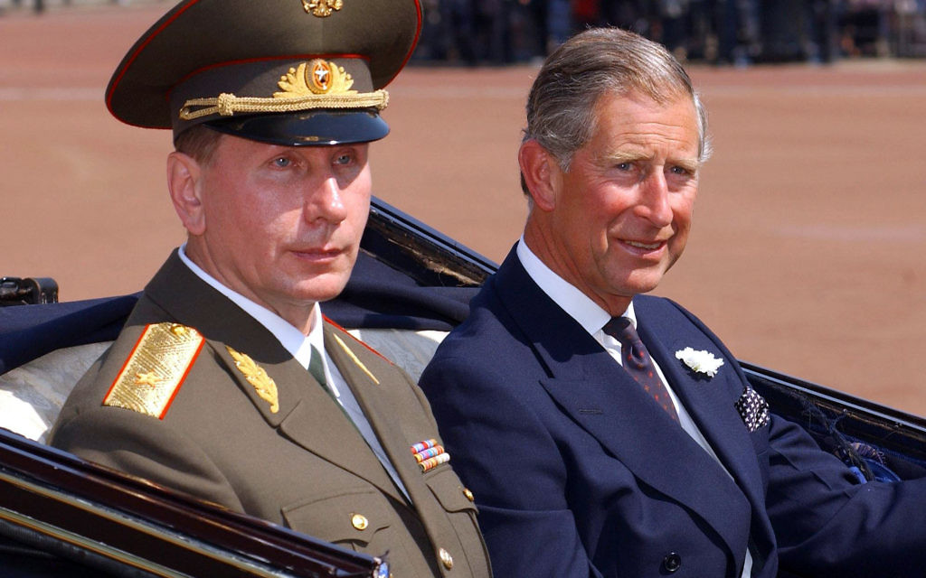 Prince of Wales (right) at Buckingham Palace with Russian President Vladimir Putin. The Prince of Wales has compared the actions of Russian leader Vladimir Putin to Nazi dictator Adolf Hitler, it has been claimed.
