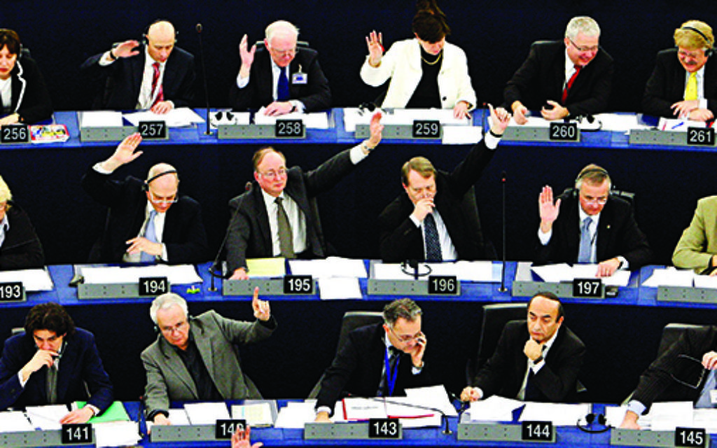 MEPs voting in Brussels