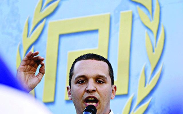 Ilias Kasidiaris, of the Greek extreme right party Golden Dawn