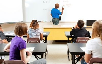 Stock image of a school classroom