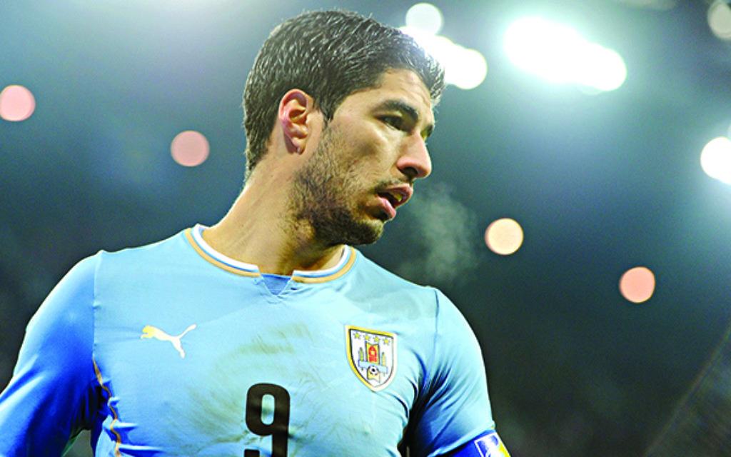 Uruguay player Luis Suarez