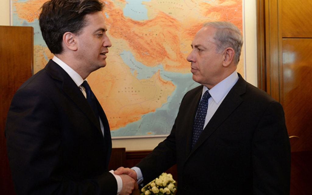 Ed Miliband with Benjamin Netanyahu in Israel earlier this year.