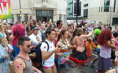 The famous London Pride parade that marches through central London each year