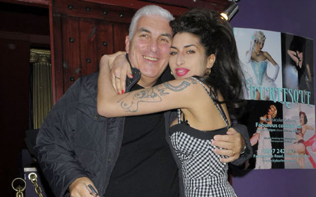 Amy Winehouse with dad Mitch