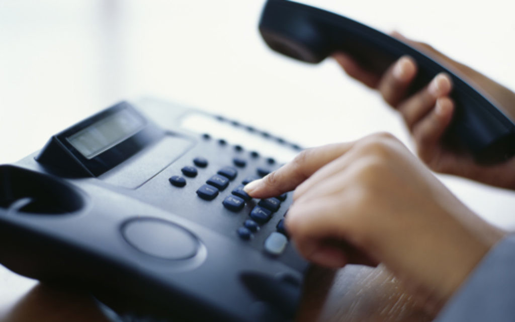 Stock photo of a telephone