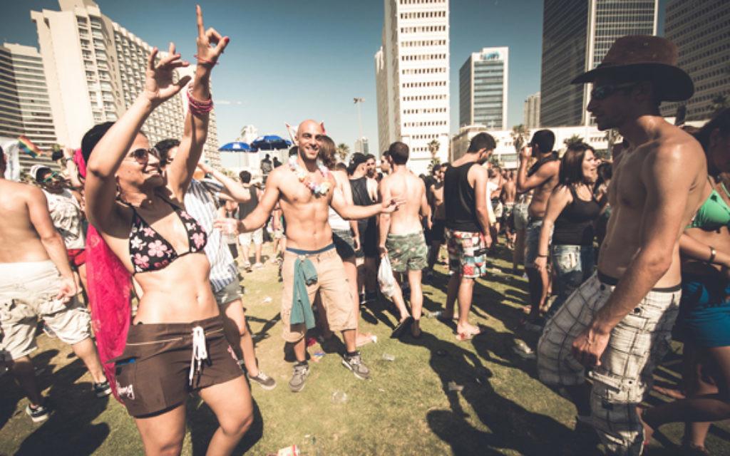 Revellers celebrate Gay Pride in Tel Aviv. Photo: Basti Hansen