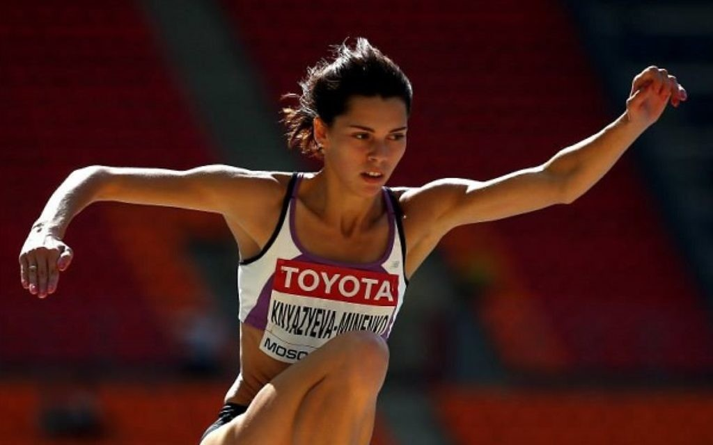 Hanna Knyazyeva-Minenko has qualified for the final of the triple jump, which takes place on Monday evening