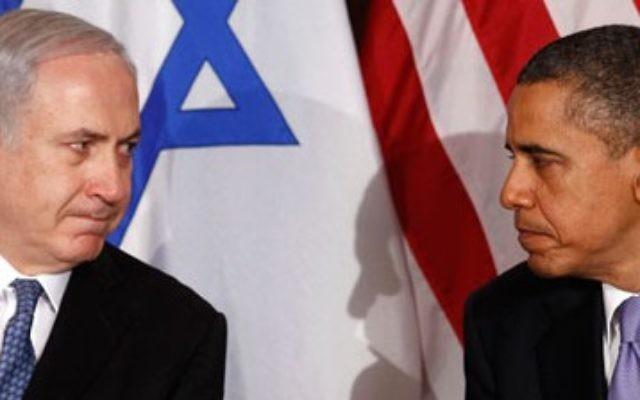 Israeli PM Benjamin Netanyahu with US President Barack Obama