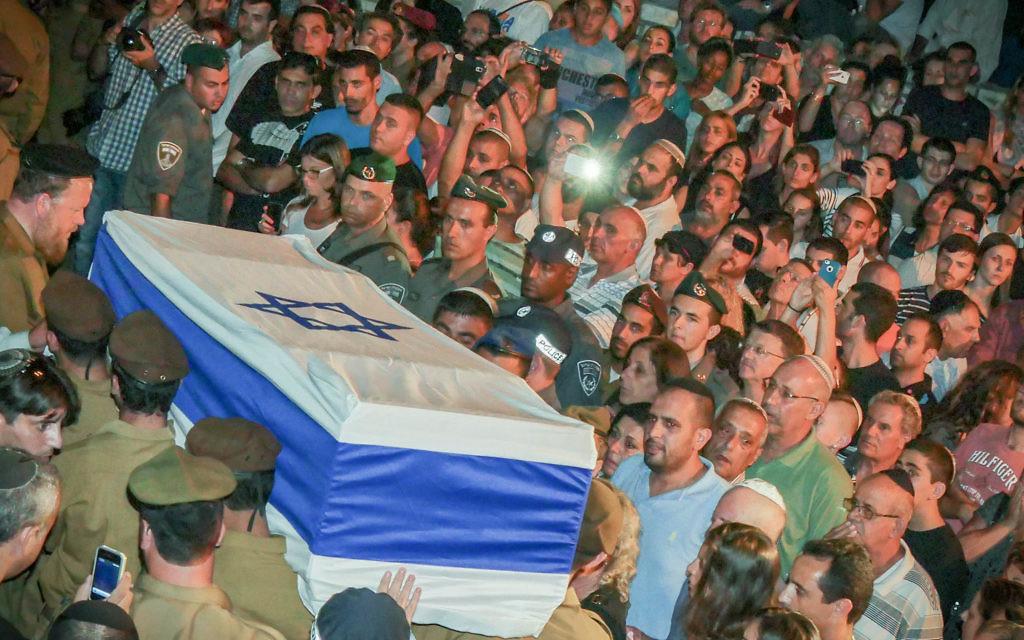 The funeral of Sgt. Sean Carmeli. Photo: Jinipix/Israel Sun.