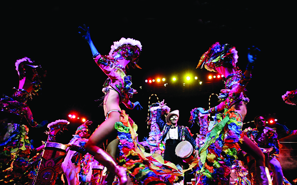 The colourful Tropicana night club stage show features 200 performers