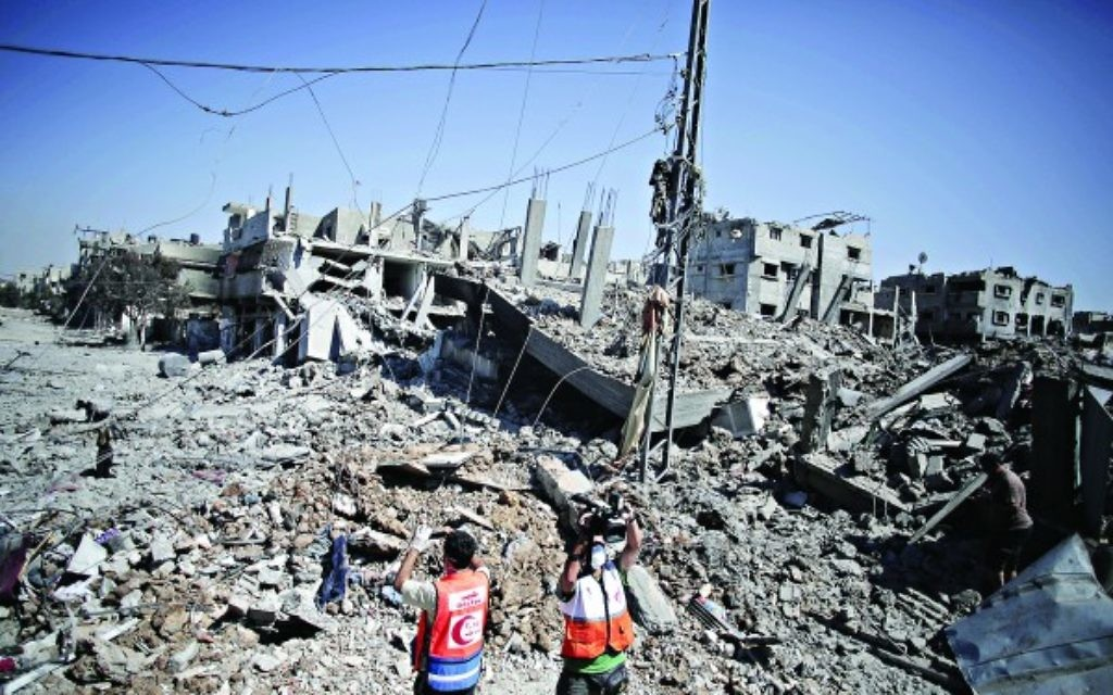 The destruction in Gaza's Shijaiyah neighbourhood.