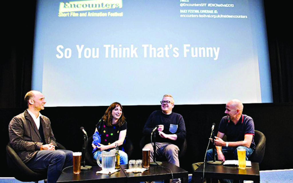 A panel discussion at the Encounters Festival in Bristol last year