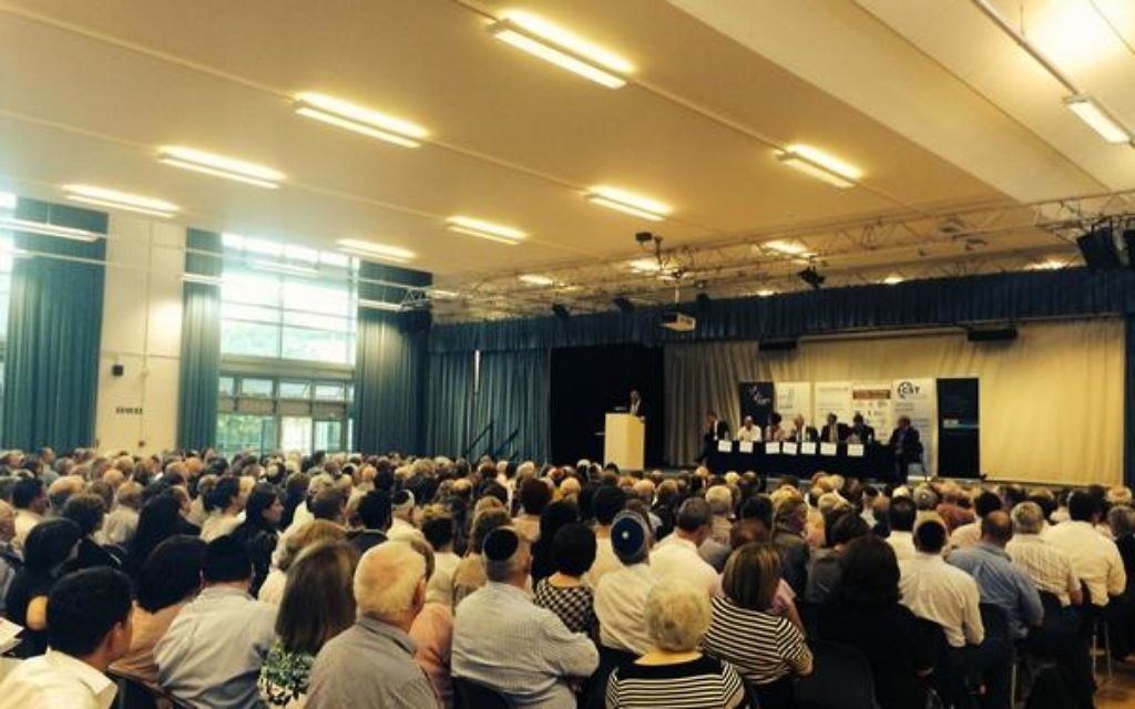 Around 1,000 people attended a community crisis meeting last week at JFS in Kenton.