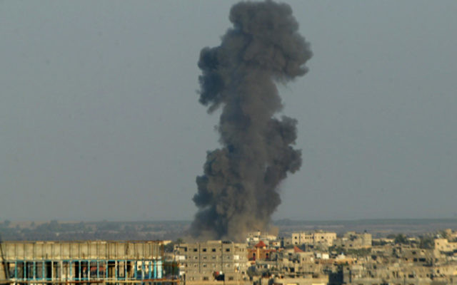 A Israeli strike on the Gaza strip during the 2014 war