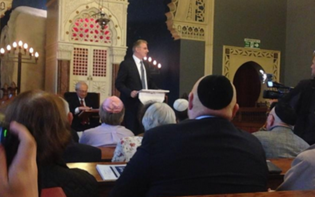 Ambassador Taub addresses Bradford Reform Synagogue