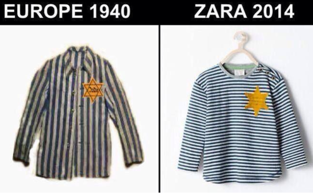 Zara's kids t-shirt was the spitting image of a Jewish concentration camp uniform.