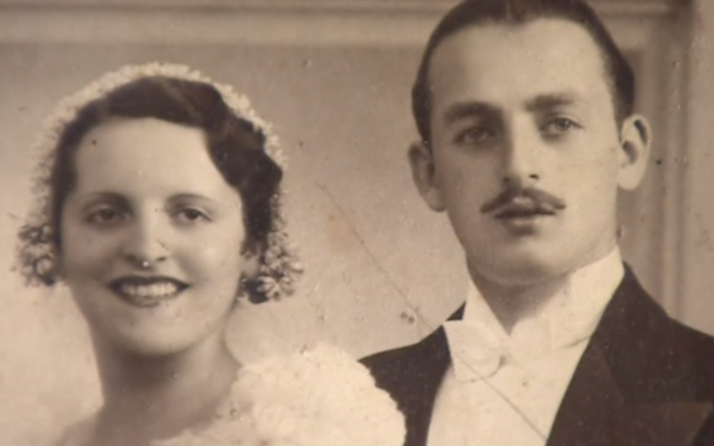 Mr and Mrs Kaye on their wedding day in 1933