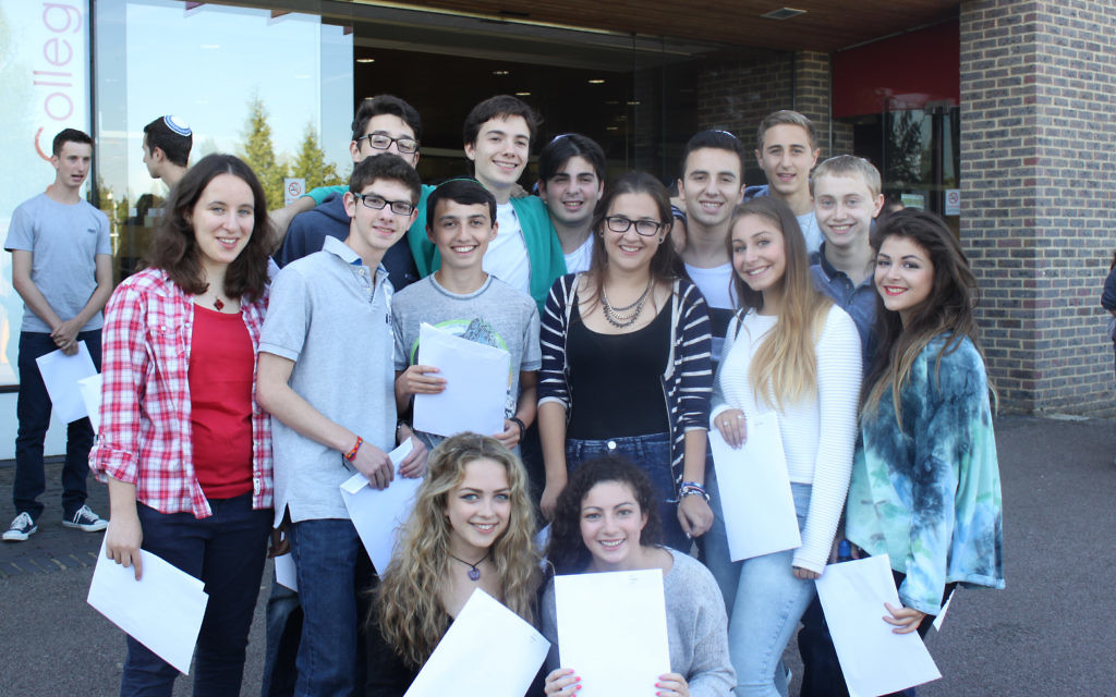 Yavneh College pupils celebrate outstanding GCSE results.