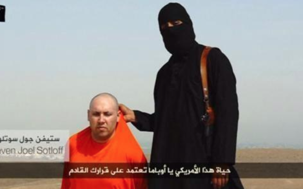 A view of the terrorist's video in which Sotloff is killed 'in revenge' for US foreign policy