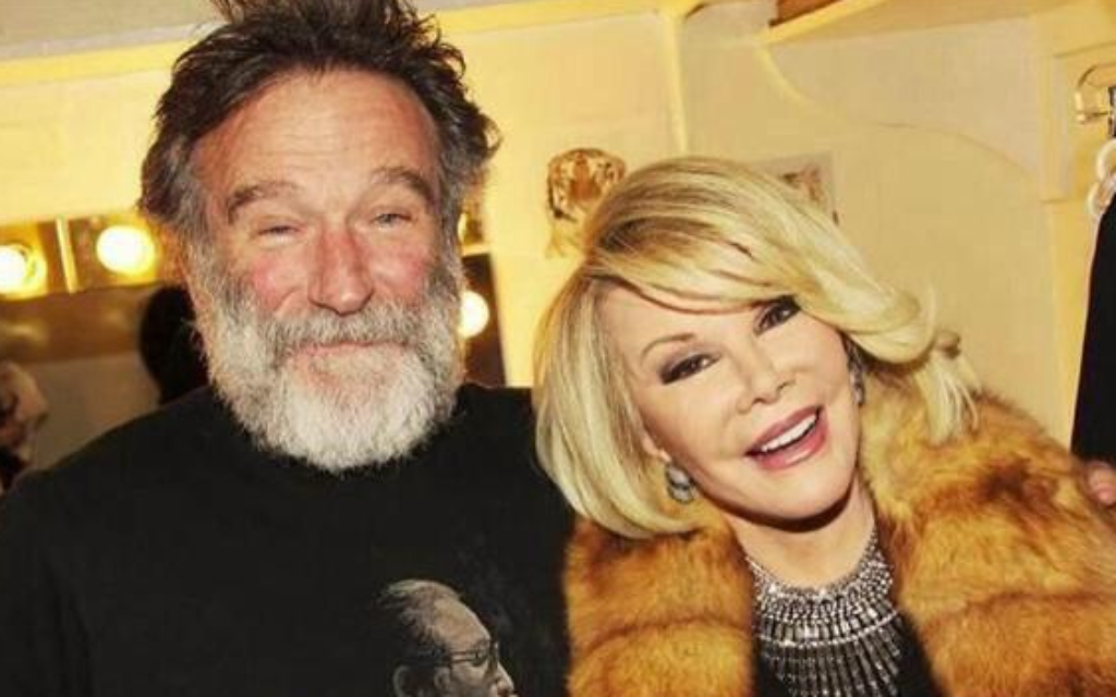 Rivers with the great Robin Williams, who passed away last month.