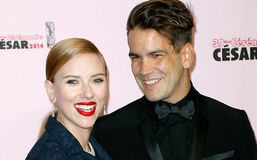 Scarlett Johansson and her soon-to-be divorced husband Romain Duraic