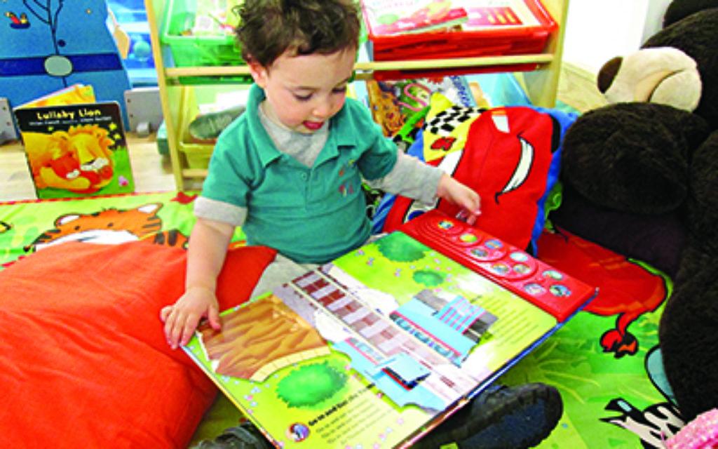 Early reading at Little Bicks Nursery in Borehamwood