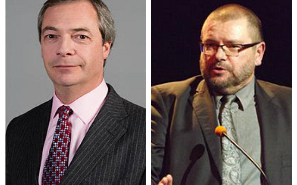 Shoulder to shoulder: UKIP's Nigel Farage and Polish MEP Robert Jarosław Iwaszkiewicz.