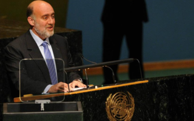 Ron Prosor addressing the United Nations General Assembly
