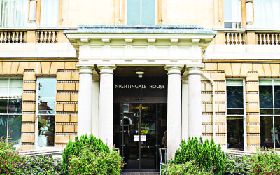 The entrance to Nightingale House