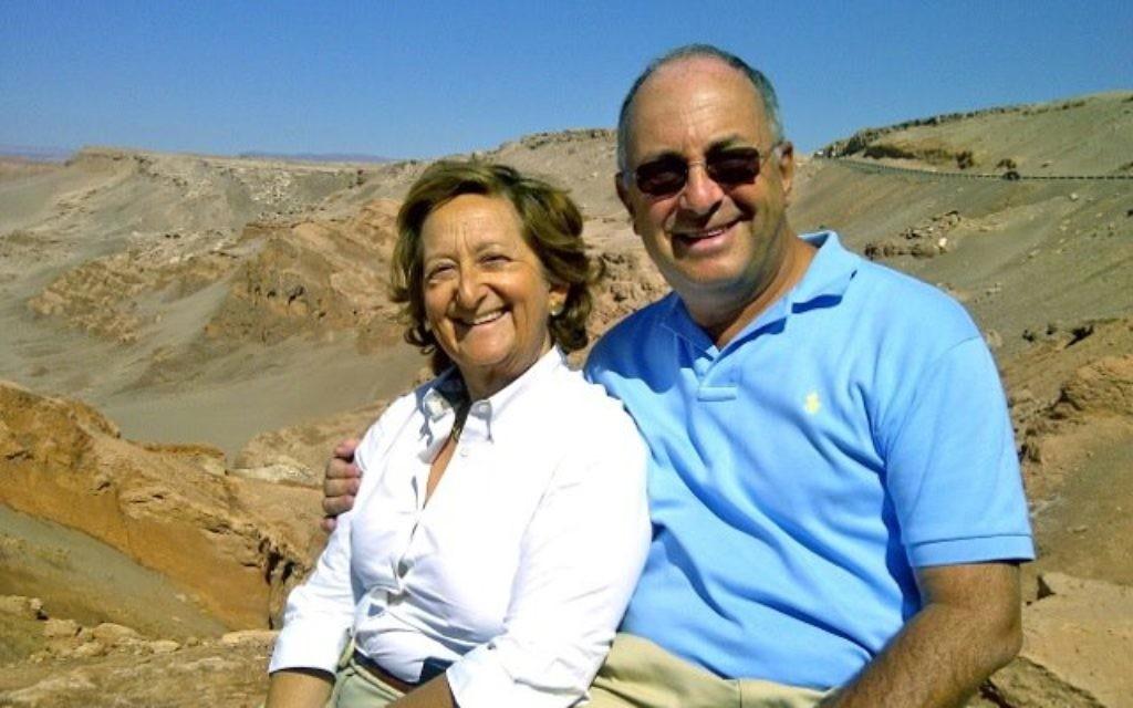Michelle Hirschfield and her husband Graham  (Facebook photo)