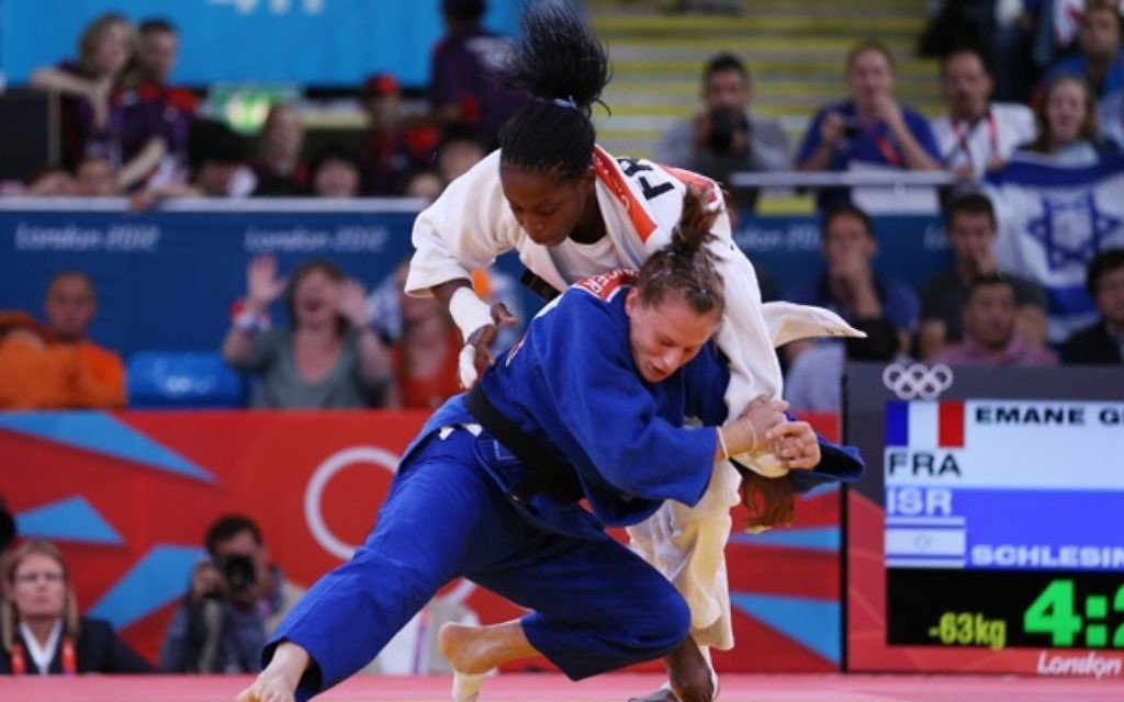 Alice Schlesinger is through to the last 16 of the U63kg event in Rio