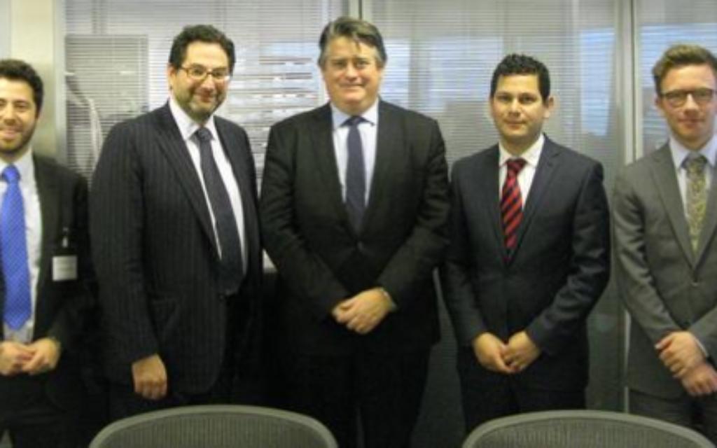 Philip Rosenberg, Adrian Cohen, Deputy Mayor Steven Greenhalgh, Jonny Newton and Jay Stoll