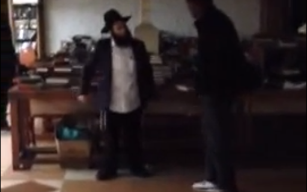 Intruder confronts members at Chabad New York headquarters