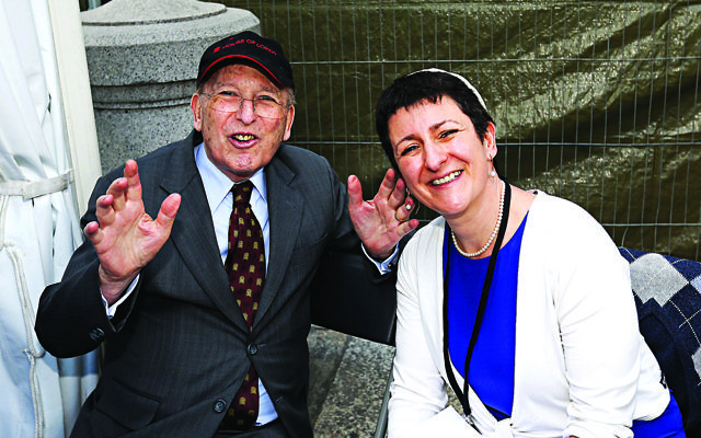 Laura Janner-Klausner with her late father.